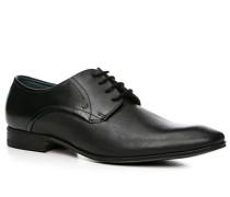 Herren Schuhe Derby Leder schwarz schwarz,blau