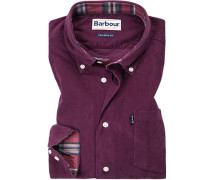 Hemd Tailored Fit Baumwolle bordeaux