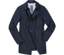 Mantel Parka Baumwolle wasserabweisend nachtblau