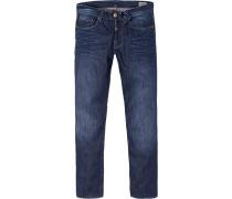 Blue-Jeans Regular Fit Baumwolle dunkelblau