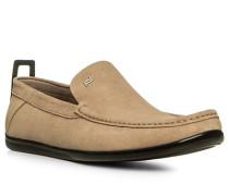 Herren Schuhe Slipper Veloursleder beige beige,beige
