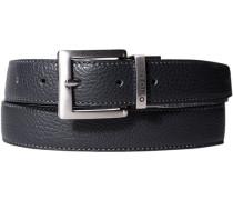 Herren Gürtel schwarz/dunkelblau Breite ca. 3 cm blau,schwarz