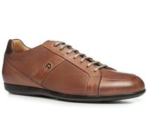 Schuhe Sneaker Leder cognac ,schwarz