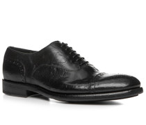 Schuhe Oxford Büffelleder gecrasht nero