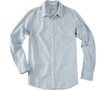 Hemd New School Baumwolle -weiß gestreift