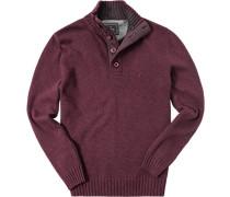 Pullover Toyer Baumwolle barolo meliert