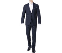 Anzug Sharp Fit Schurwolle nachtblau