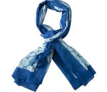 Herren  Schal Baumwolle royal-mint blau