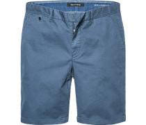 Hose Bermudashorts Regular Fit Baumwolle rauchblau
