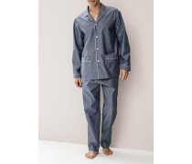 Schlafanzug Pyjama Baumwolle mercerisiert