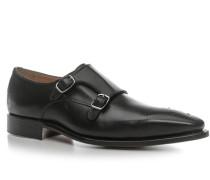 Herren Schuhe Doppelmonkstraps Leder schwarz schwarz,beige