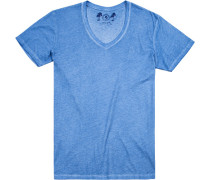 T-Shirt Baumwolle capriblau