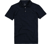 Polo-Shirt Baumwolle dunkelblau