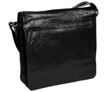 Herren Tasche  Überschlagtasche Büffelleder schwarz