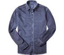 Hemd Modern Fit Baumwolle jeansblau
