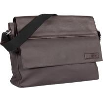 Herren -Hose Messenger Bag Baumwoll-Mix dunkelbraun