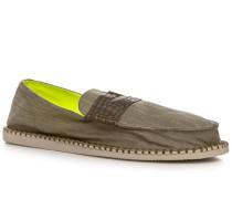 Schuhe Slipper Denim schilfgrün ,gelb