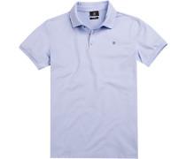 Polo-Shirt Polo Modern Fit Baumwoll-Pique hellblau