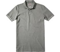 Herren Polo-Shirt Polo Baumwoll-Piqué grau