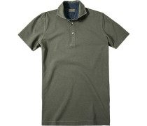 Herren Polo-Shirt Polo Baumwoll-Piqué graugrün
