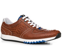 Schuhe Sneaker Leder cognac