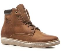 Schuhe Schnürstiefeletten Nubukleder cognac