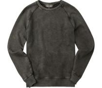 Sweatshirt Baumwolle dunkelgrau meliert