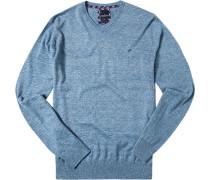 Pullover Baumwolle eisblau meliert