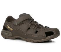 Schuhe Sandalen Kunstleder khaki