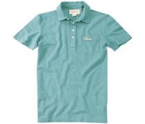 Polo-Shirt Polo Baumwoll-Piqué türkis