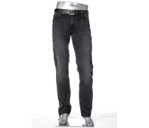 Jeans Black Regular Slim Fit Baumwoll-Stretch anthrazit