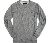 Pullover Baumwolle dunkelgrau- meliert