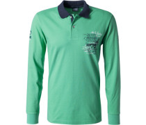 Herren Polo-Shirt Polo Baumwoll-Piqué pastellgrün