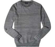 Pullover, Baumwolle, meliert