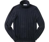 Pullover Schurwolle nachtblau