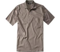Polo-Shirt Polo Baumwoll-Jersey taupe