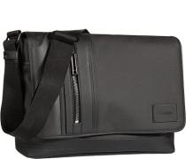 Herren Tasche  Messenger Bag Material-Mix schwarz