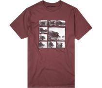 T-Shirt Tailored Fit Baumwolle bordeaux