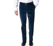 Hose Cordhose Contemporary Fit Baumwolle saphirblau