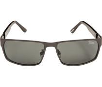 Herren Brillen Sonnenbrille Metall-Kunststoff stahlgrau-grau