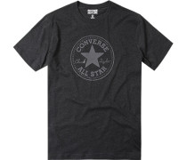 T-Shirt Baumwolle anthrazit meliert