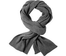 Schal, Baumwoll-Wolle, anthrazit meliert