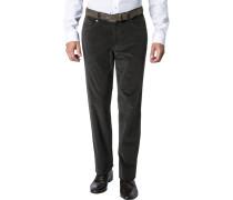 Herren Jeans Cordhose Baumwoll-Stretch graublau