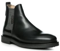 Schuhe Chelsea-Boots Rindleder schwarz