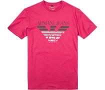 T-Shirt Baumwolle himbeerrot