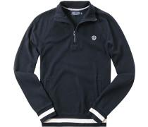 Pullover Troyer Baumwolle navy