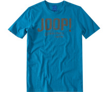 T-Shirt Raphus1, Regular Fit, Baumwolle, azurblau