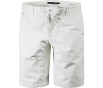 Hose Bermudashorts Regular Fit Baumwolle off white