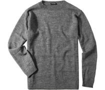 Herren Pullover Schurwoll-Mix grau-meliert grau,grau