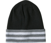 Mütze, Microfaser, -grau gestreift